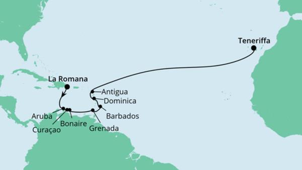 Von der Dominikanischen Republik nach Teneriffa