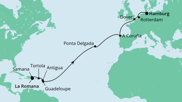 Von der Dominikanische Republik nach Hamburg 2