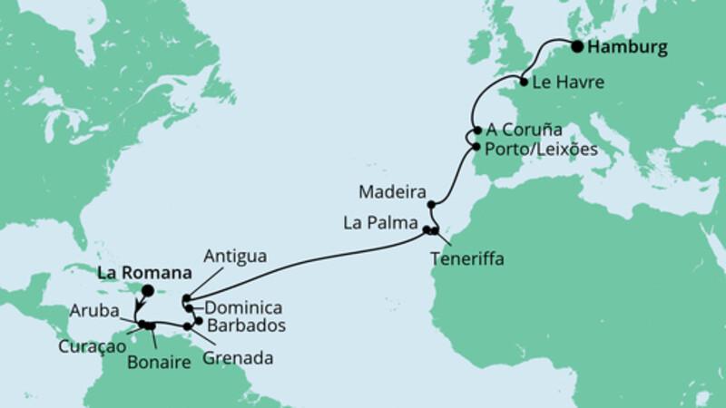 Von der Dominikanischen Republik nach Hamburg 2