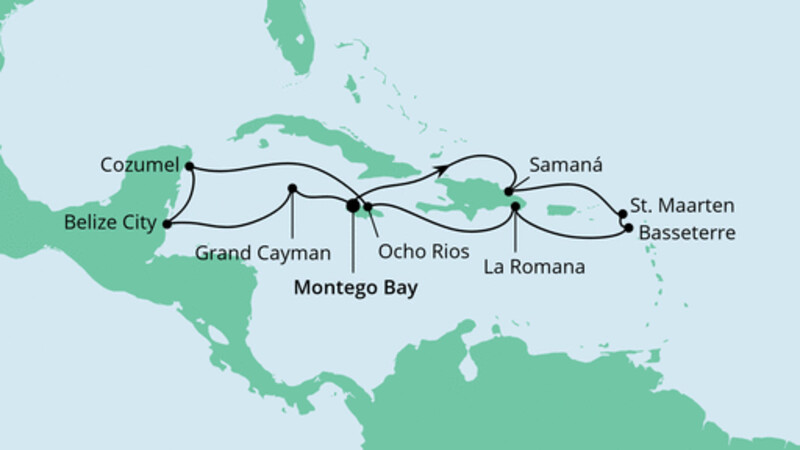 Karibik & Mexiko ab Jamaika