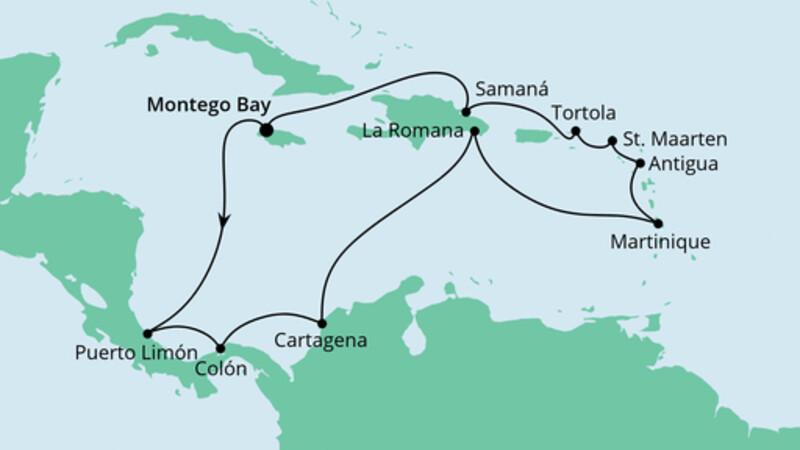 Karibik & Mittelamerika ab Jamaika