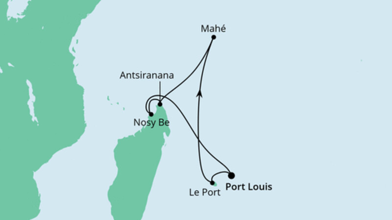 Mauritius, Seychellen & Madagaskar 1