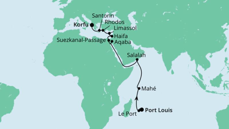 Von Mauritius nach Korfu