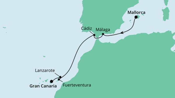 Von Mallorca nach Gran Canaria