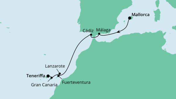 Von Mallorca nach Teneriffa