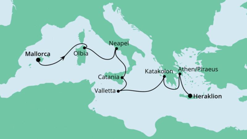 Von Mallorca nach Kreta