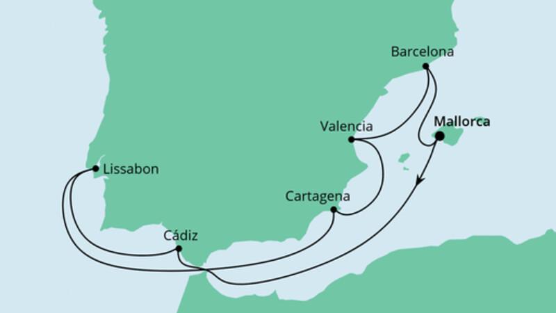Spanien mit Lissabon