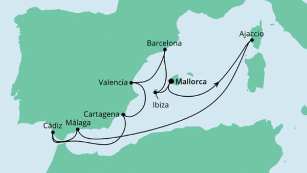 Spanien, Korsika & Balearen