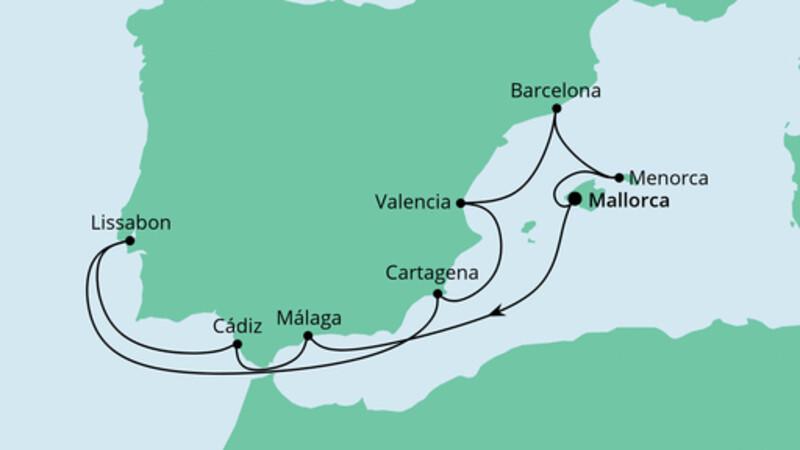 Spanien, Portugal & Balearen