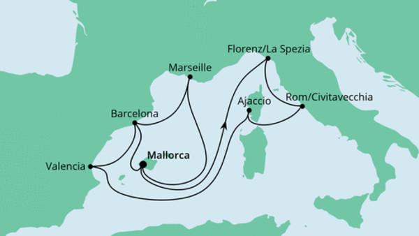 Große Osterreise durchs Mittelmeer