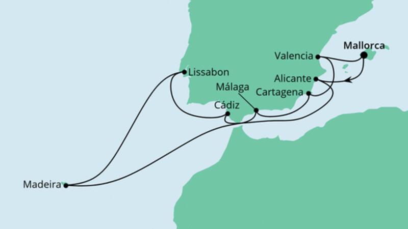 Festtagsreise Spanien & Portugal