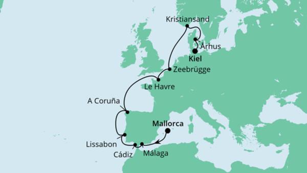 Von Mallorca nach Kiel