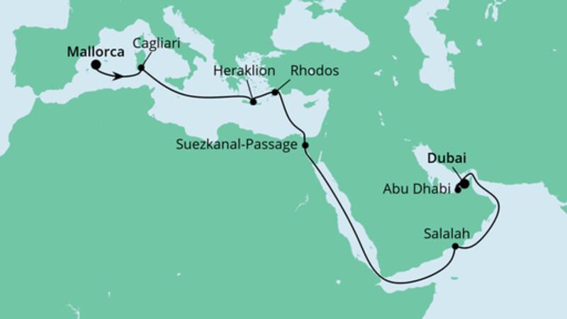 Von Mallorca nach Dubai