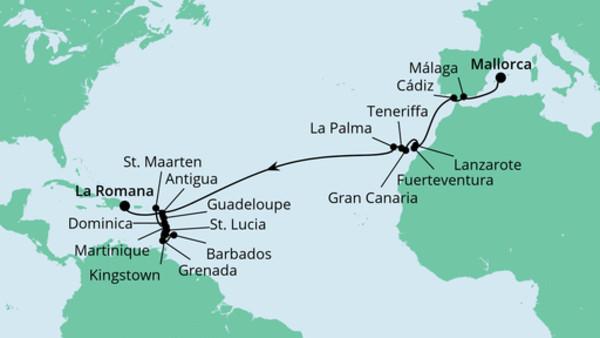 Von Mallorca in die Dominikanische Republik
