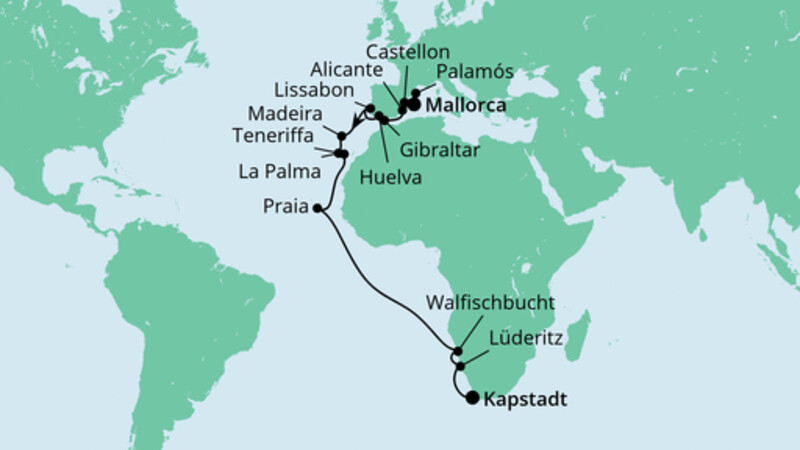 Von Mallorca nach Kapstadt