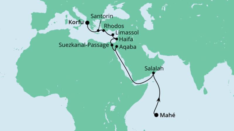 Von den Seychellen nach Korfu
