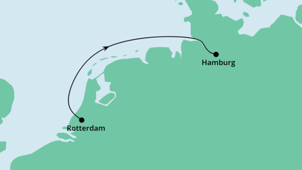 Kurzreise von Rotterdam nach Hamburg