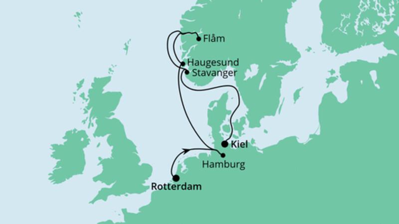Norwegen von Rotterdam nach Kiel