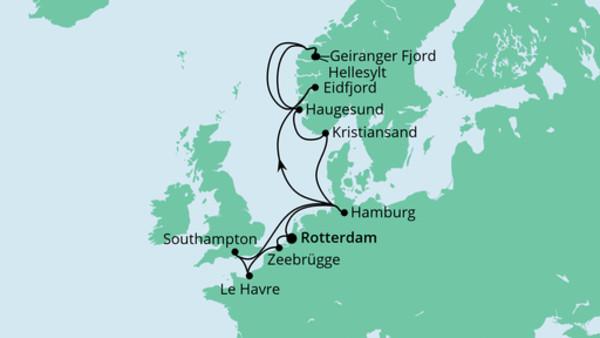 Metropolen & Norwegen ab Rotterdam