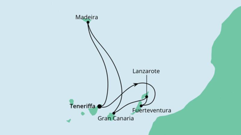 Kanaren und Madeira ab Teneriffa