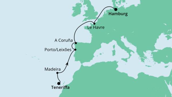 Von Teneriffa nach Hamburg