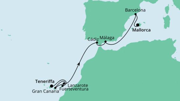 Von Teneriffa nach Mallorca