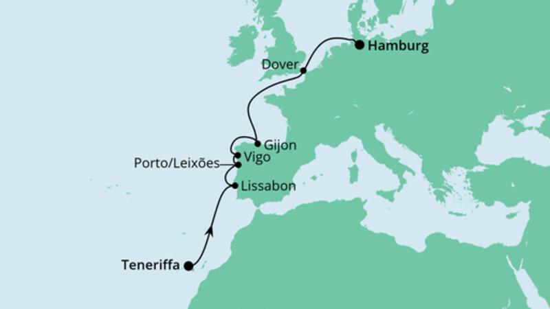 Von Teneriffa nach Hamburg 1