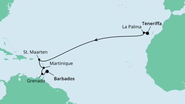 Von Teneriffa nach Barbados