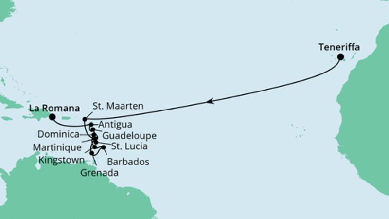 Von Teneriffa in die Dominikanische Republik