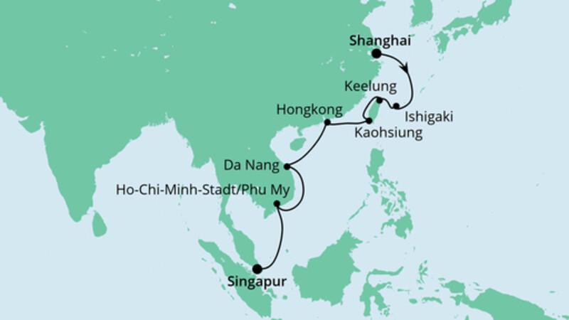 Von Shanghai nach Singapur