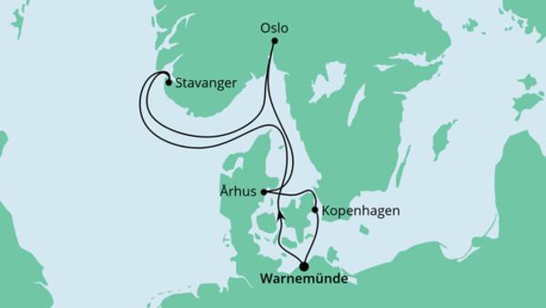 Norwegen & Dänemark ab Warnemünde