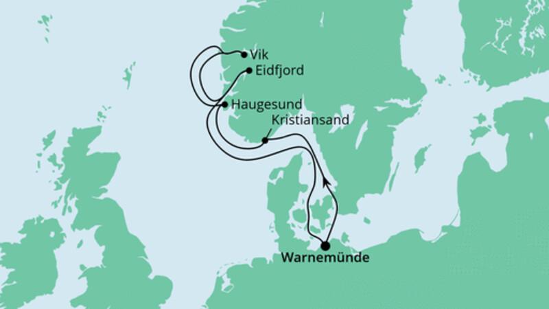 Norwegens Fjorde ab Warnemünde