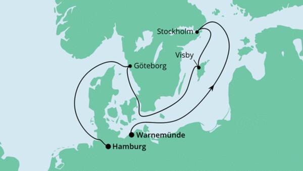 Ahoi Tour von Warnemünde nach Hamburg