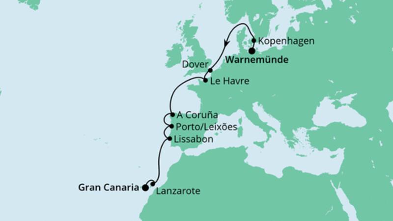 Von Warnemünde nach Gran Canaria