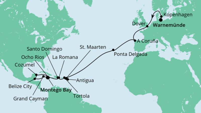 Von Warnemünde nach Jamaika