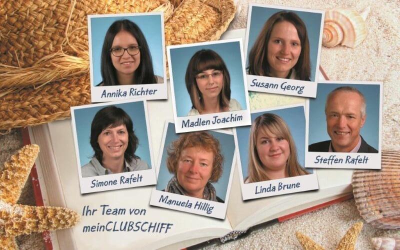 Das Team von meinCLUBSCHIFF